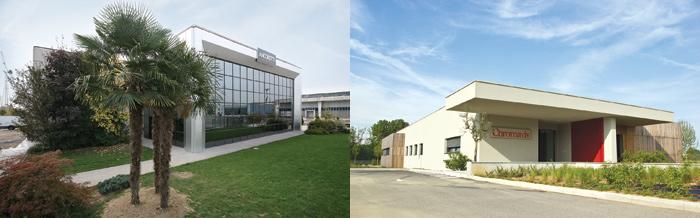 Lo stabilimento Ancorotti Cosmetics a Crema e l'azienda Chromavis a Vaiano Cremasco, in provincia di Crema