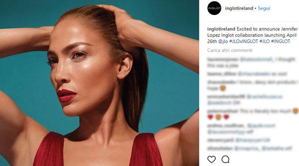 J.Lo lancia make-up con Inglot