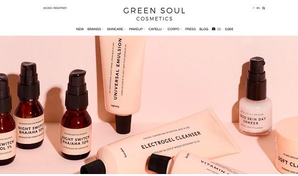 Green Soul Cosmetics, fatturato 2018 a +65%