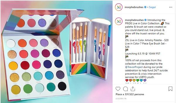 Il make-up di Morphe celebra il Pride Month