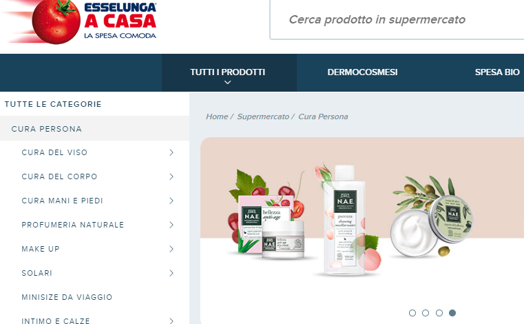 Esselunga, vendite beauty online a +75%